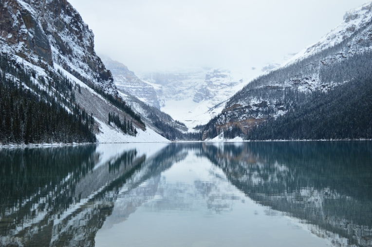 Early morning view of Lake Louise