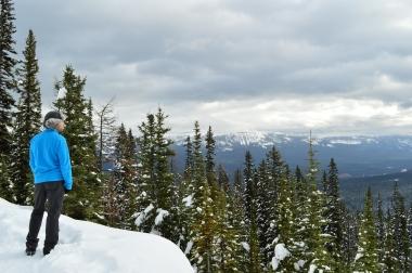 View overlooking the Lake Louise Ski Resort